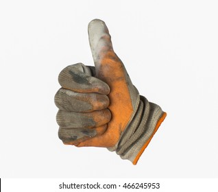 work gloves isolated white background