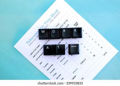 Work At Home Telecommuter Time Sheet