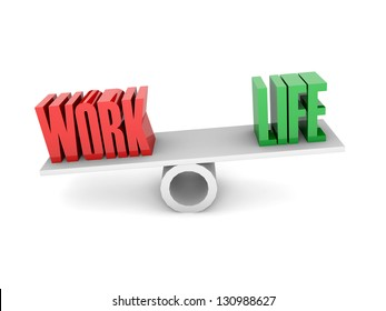 Work and Life balance. Concept 3D illustration.