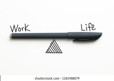 Work life balance diagram drawn using pen