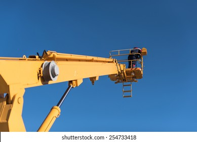 Work on the lift tower