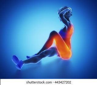 Work out and fitness concept - streching and yoga