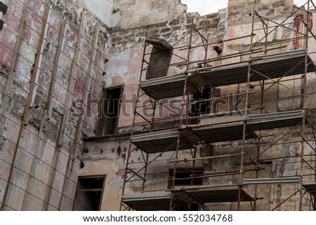 Work Progress Ruins Abandoned House Palermo Stock Photo (Edit Now ...