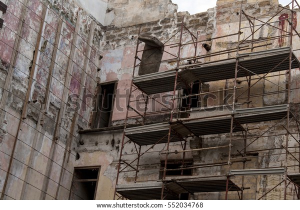 Work Progress Ruins Abandoned House Palermo Stock Photo ...