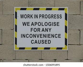 Work in progress. We apologize for any inconvenience cause. Warning label