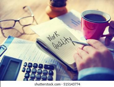 Work Quality Work Smarter Not Harder Efficient Concept