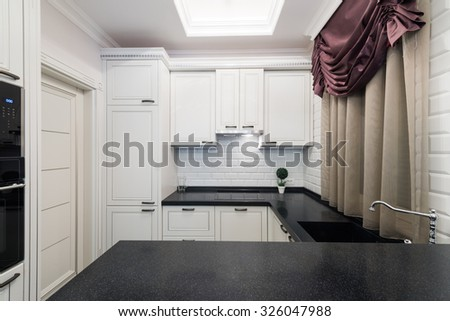 Work Surfaces Modern Kitchen Interior Stock Photo Edit Now