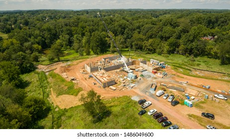 Work takes place at a construction site in Montgomery County, Maryland.