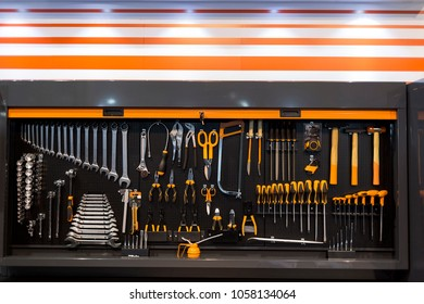 Work tools in a modern wall organizer