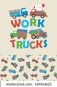 Work trucks.