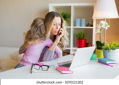 Workaholic mom too busy at work and ignores her kid