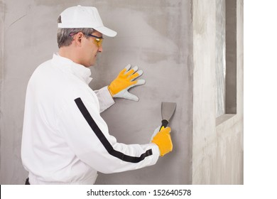 Worker checking the surface
