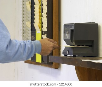 worker clocking out
