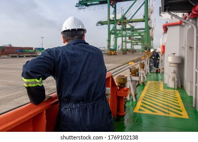 worker in container loading port