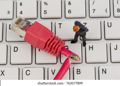 worker, network connector, keyboard