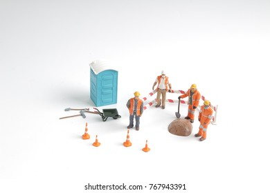 the worker occupation isolated with clipping paht
