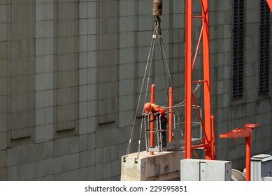 worker on construction cranes.