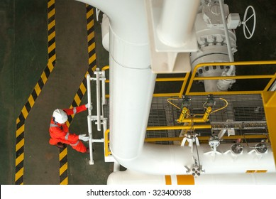 worker on offshore rig