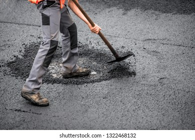 worker on the road