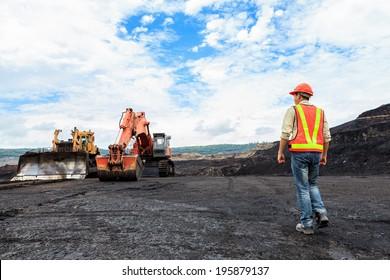 Arbeitnehmer in Grube nördlich von THAILAND
