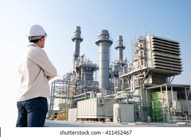 The worker at power plant
