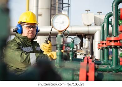 Worker produce oil
