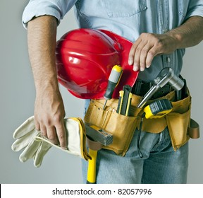 Worker with tool