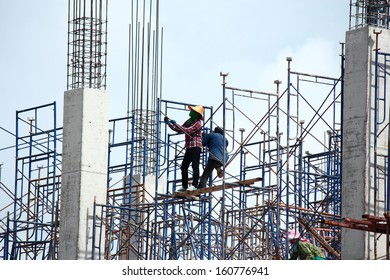 worker working  on  construction  site