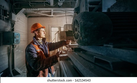 worker works on mining enterprise
