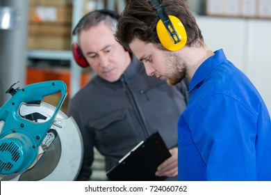 workers with earprotection