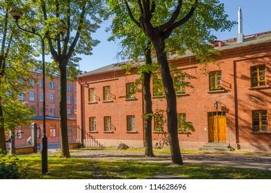 Workers' homes in Ksiezy Mlyn, Lodz, Poland.