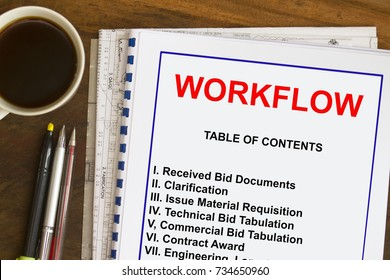 Workflow processes of engineering and construction business.