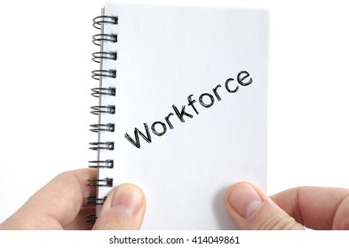 Workforce text concept isolated over white background