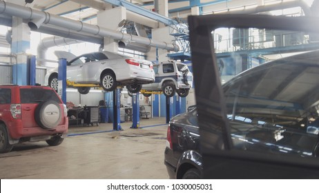 Working automotive service - car checking