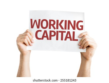 Working Capital card isolated on white background