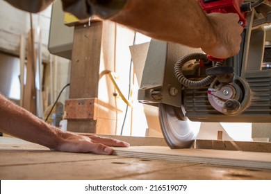 working with circular saw