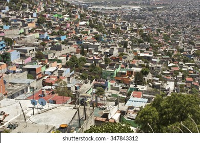 Working Class Favela on outskirts of Mexico City