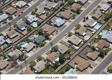 Working class neighborhood in Southwestern United States