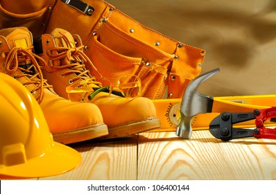 working clothing and tools