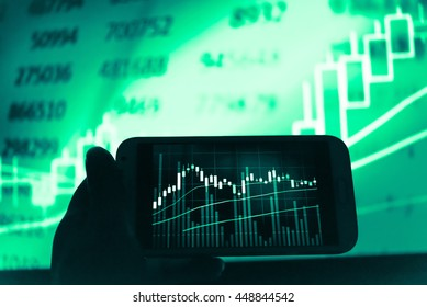 Candle Stick Graph Chart Stock Market Stock Photo (Edit Now