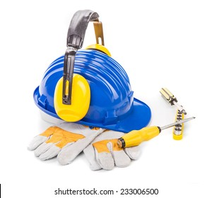 Working equipment. Isolated on a white background.