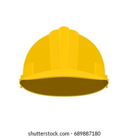 Working Hard Hat, Yellow Safety Helmet on White Background ,  Illustration