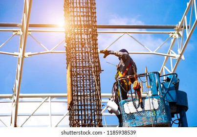 Working at height equipment  safety body harness on selective focus