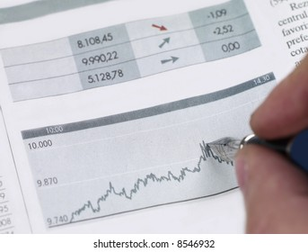 Working on financial graphic