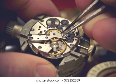 Working on an old Mechanical Watch.