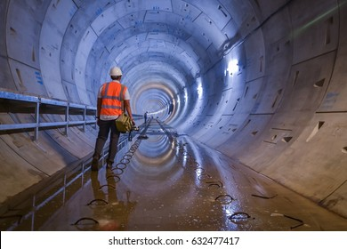 Working on the tunnel