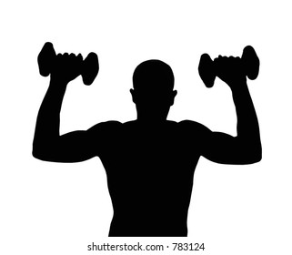 working out silhouette