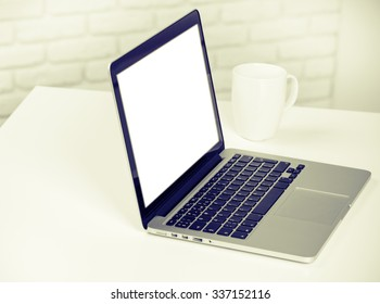Working place, laptop