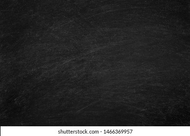 Working place on empty rubbed out on blackboard chalkboard texture background for classroom or wallpaper, add text message.