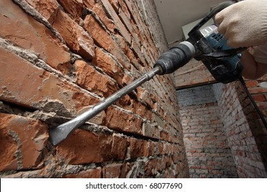 Working with plugger against the brick wall
